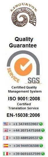 English to Arabic Translation Services company with ISO 9001 and EN-15038 quality certificates.